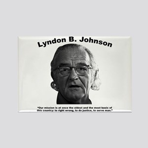 LBJ: Mission Rectangle Magnet